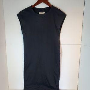 Everlane sleeveless cotton tank dress black XS